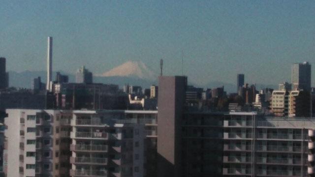 観覧車から見える富士山