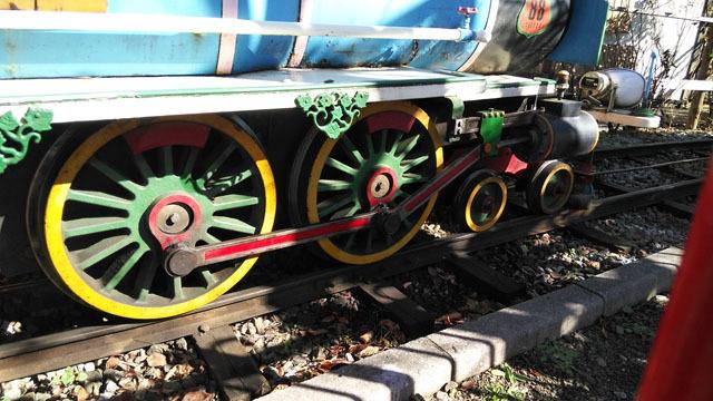 1950から走ってるらしい汽車の動輪