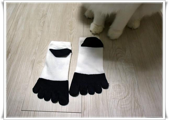 ダイソーさんで靴下買いました。シロクマの5つ指。『しもやけ』に効いてんのか?!な話♪