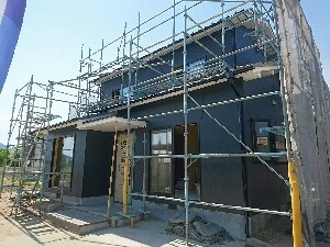 耐震補強で進化した「上東の家」(完成間近)