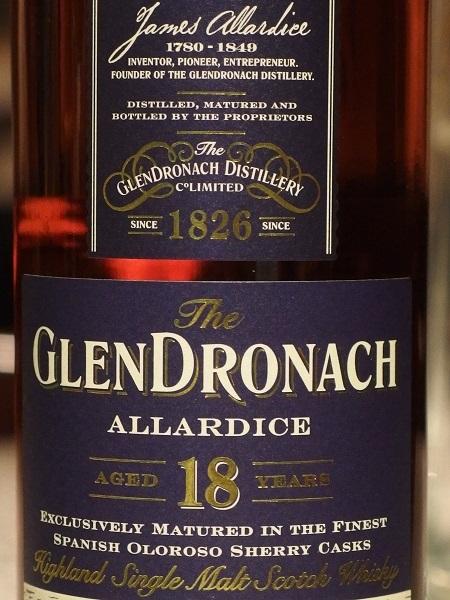 GLENDRONACH ALLARDICE 18y_L600