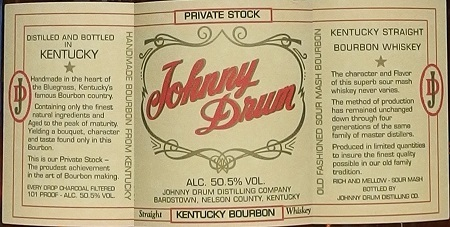 JOHNNY DRUM Private Stock_label_L450