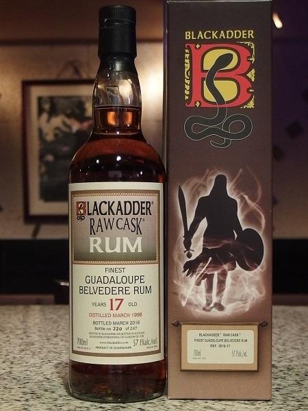BLACKADDER RAW CASK GUADALOUPE BELVEDERE RUM 1998 17y_B600