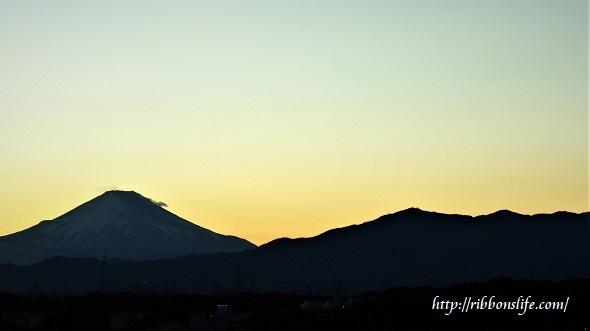 2018年3月3日の富士山
