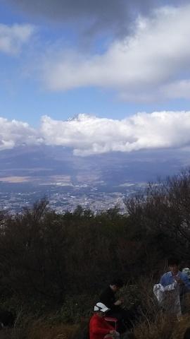 20171112_金時山山頂から富士山少し