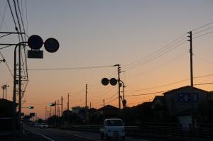雲一つない朝日2