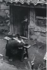中国の少年臨書 名取洋之助写真
