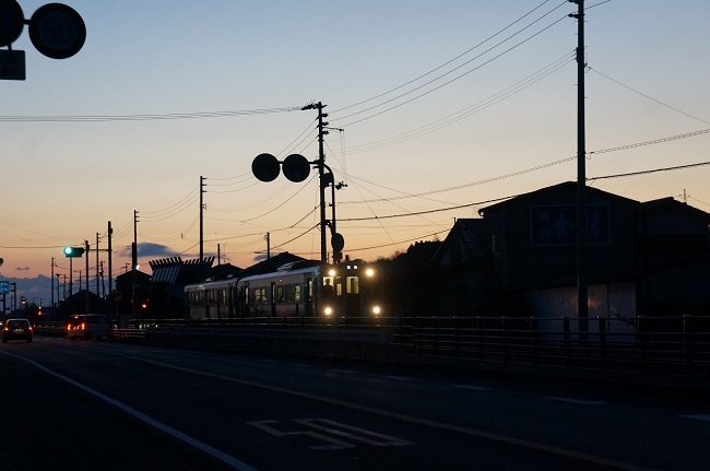 朝の通勤列車