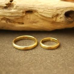 オーダーメイド 結婚指輪 18金 イエローゴールド