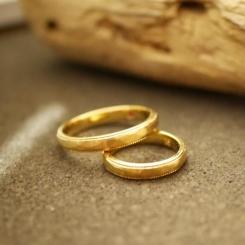 結婚指輪 18金 イエローゴールド
