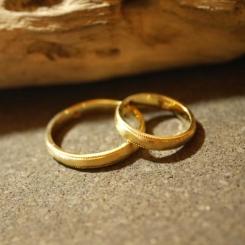 アンティーク 結婚指輪 18金