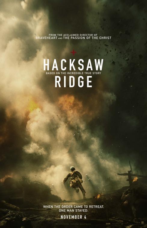 サム新作映画「Hacksaw Ridge」ポスター&予告