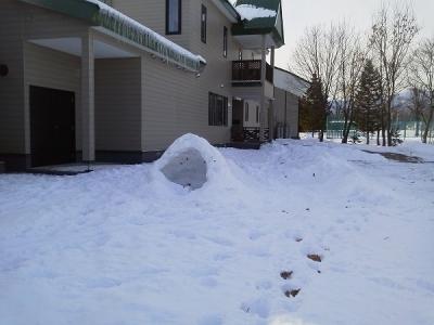 かまくら 屋根が薄い!