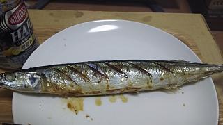 20170909秋刀魚塩焼き