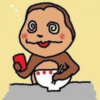 猿吉君ビールはジュース!