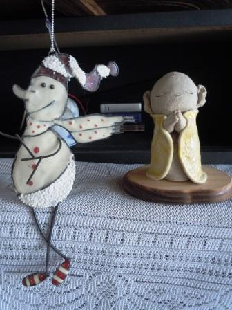 雪だるまとお地蔵様1