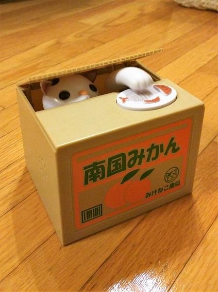 ねこ貯金箱1