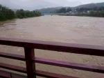 信濃川の増水
