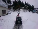 作業場の除雪作業
