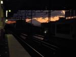 最寄駅からの富士山
