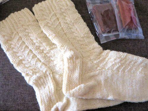 手編みのソックス♪