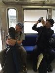 近江鉄道にはしゃく三十路と五十路