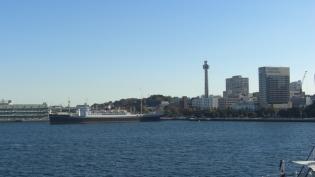 横浜大桟橋。飛鳥Ⅱ、パシフィックビーナス5