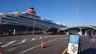 横浜大桟橋。飛鳥Ⅱ、パシフィックビーナス4