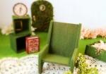 リカちゃん,森ガール,苔の椅子