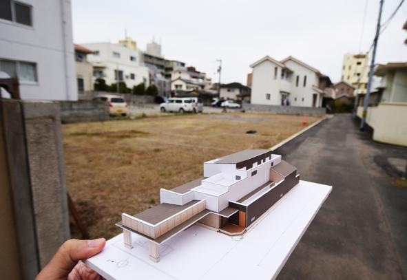 171129 敷地と模型blog