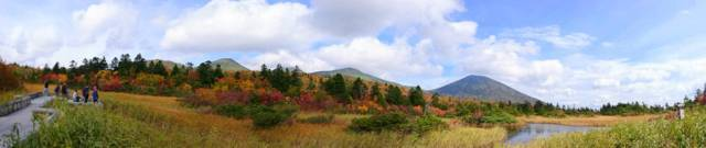 青森県 八甲田山 紅葉 パノラマ 写真 観光