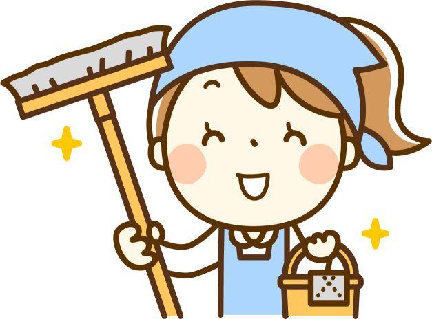 掃除する 主婦 イラスト