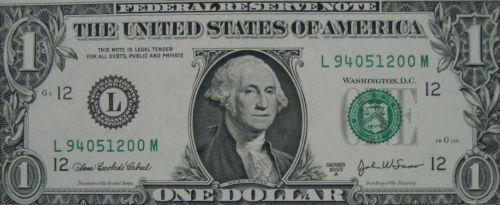 1ドル札 ジョージ・ワシントン