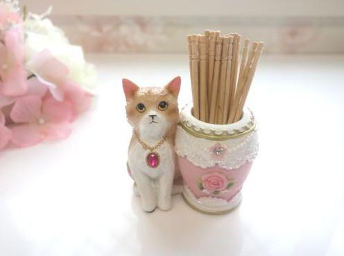 ネコの爪楊枝入れ_2