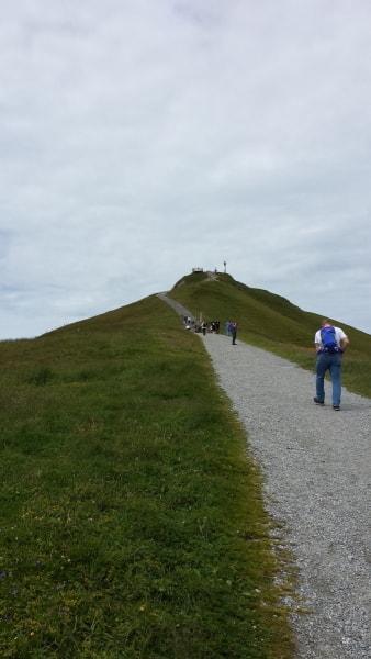 メンリッヒェン展望台への道