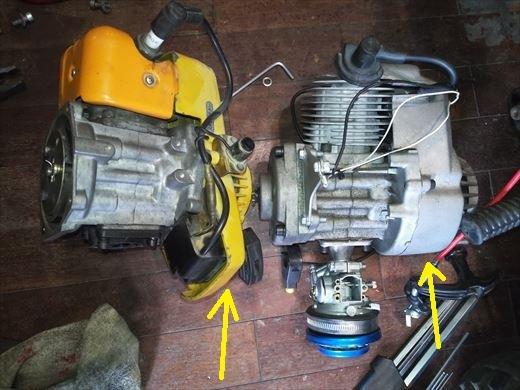 ②ポケバイエンジン載せ替えとステップ作成 (9)