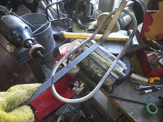 ②ポケバイエンジン載せ替えとステップ作成 (24)