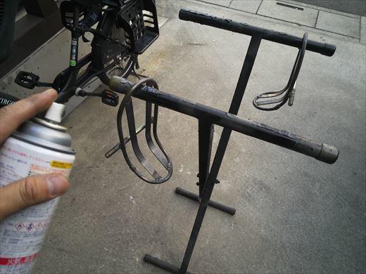 ②ポケバイエンジン載せ替えとステップ作成 (28)
