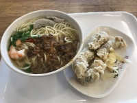 担仔湯麺と蝦巻171222