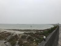 嘉義布袋の海辺で一服180201
