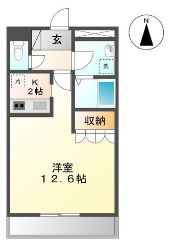 ■物件番号P5077 広ーい12.6帖のマンション!ペットOK!犬もネコも可!2階カド!日当り最高!7.3万円!