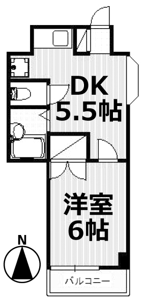 ■物件番号5143 1DKマンションで1人暮らし!格安5万円!駅14分!2階カド!南向き日当り良好!