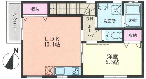 ■物件番号5236 駅も海も徒歩12分!超築浅1LDK!駐車場無料!2階カド!コンビニ1分!P無料9.2万円!