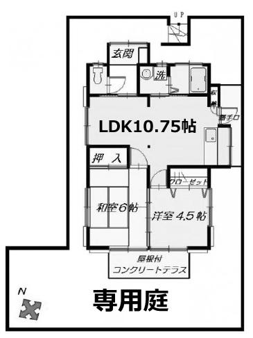 ■物件番号5249 昭和レトロ平屋!フルリフォーム済!2LDK!専用庭付!7.5万円!鵠沼神明!