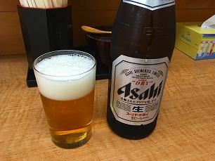 171111正太郎うどん@瓶ビール