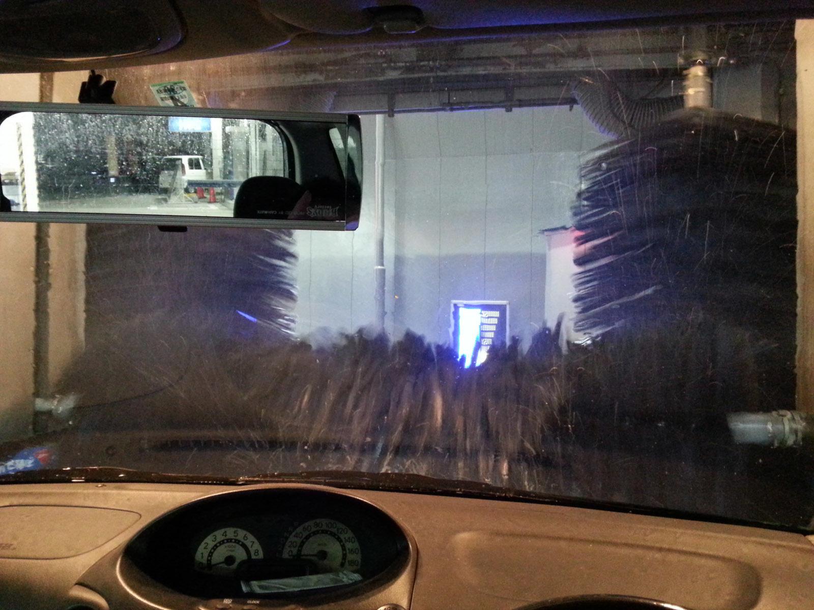 洗車機シャンプー乾燥
