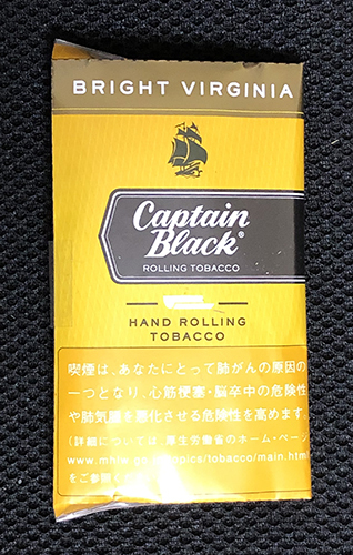 キャプテンブラック・ブライトバージニア CAPTAIN_BLACK_BRIGHT_VIRGINIA キャプテンブラック 手巻きタバコ シャグ RYO