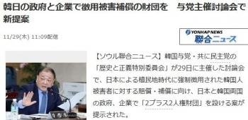 news韓日の政府と企業で徴用被害補償の財団を 与党主催討論会で新提案