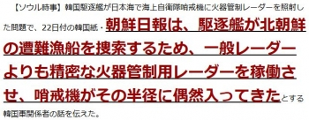 ten漁船捜索でレーダー照射=当局「日本は過剰反応」―韓国紙