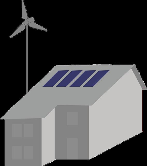 住宅パネル・風車イラスト